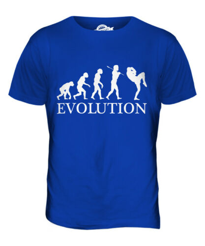 Kick boxing evolution of man t-shirt homme tee top cadeau vêtements