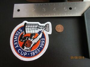 1992-1993-NHL-Stanley-Cup-Playoffs-100th-Anniversary-4-034-Logo-Patch-Hockey