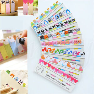 Lovely Fun Animal Sticker Bookmark Marker Memo Tab Paper Sticky Notes 10.5*3.5cm