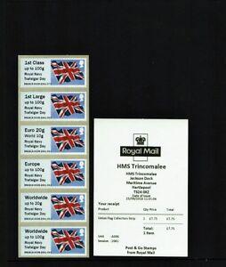 ERROR HMS TRINCOMALEE ROYAL NAVY Trafalgar Day FLAG C/STRIP B9GB16 A006 Post Go