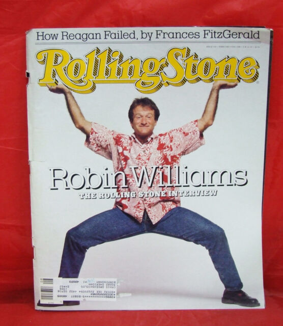 Robin Williams ROLLING STONE Issue 520 Bono Branford Marsalis February 25 1988