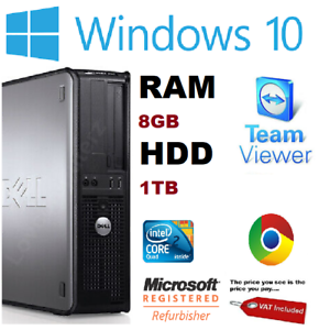 Rapide-Dell-Quad-Core-Ordinateur-PC-De-Bureau-Tour-Windows-10-WiFi-8-Go-RAM-1000-Go-Disque-dur