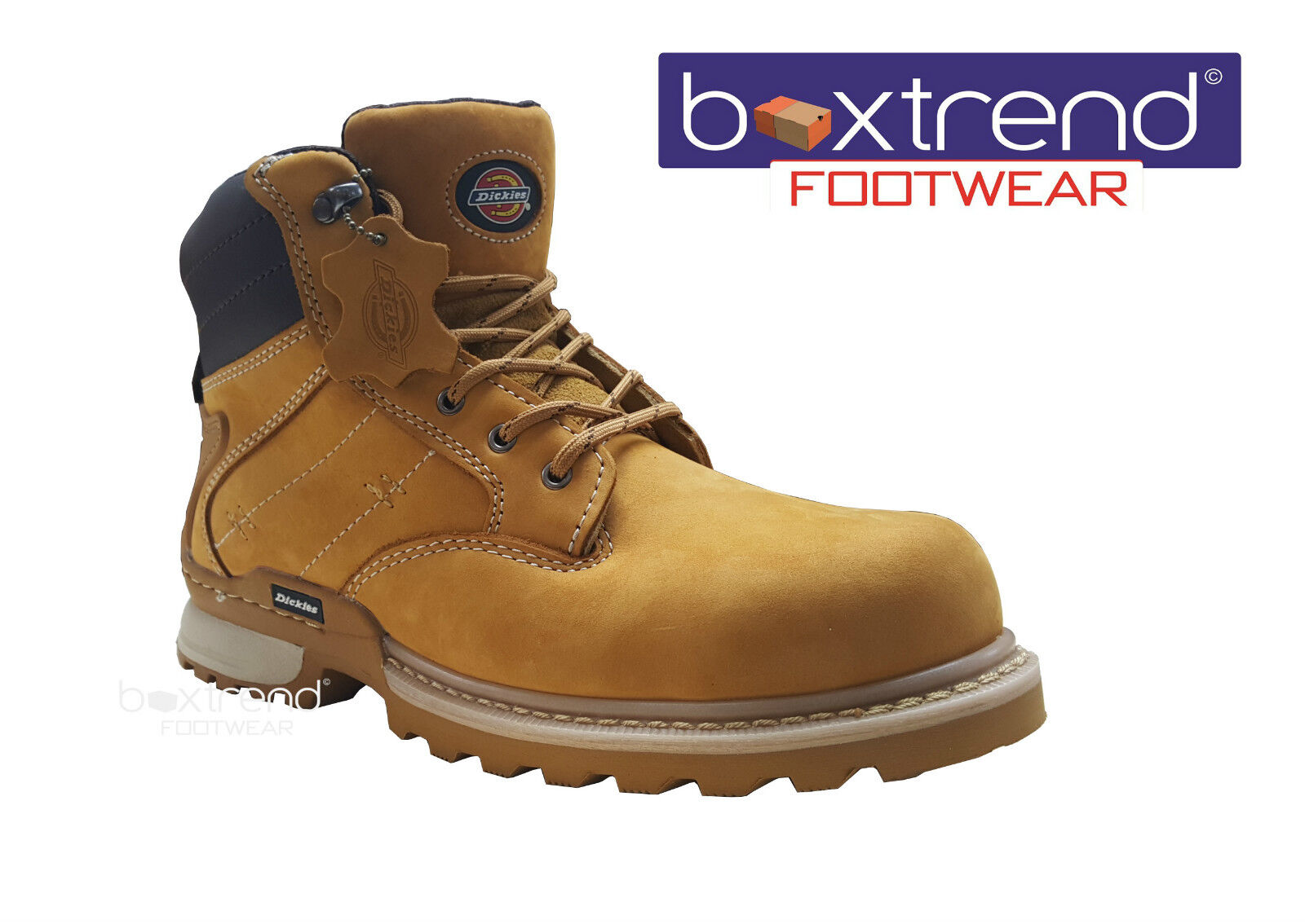 NEW Hombre STEEL DICKIES CANTON LEATHER SAFETY STEEL Hombre TOE CAP ANKLE WORK Botas Zapatos LACE 08c8b9