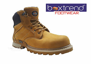 NEW MENS DICKIES CANTON LEATHER SAFETY STEEL TOE CAP ANKLE WORK BOOTS SHOES LACE