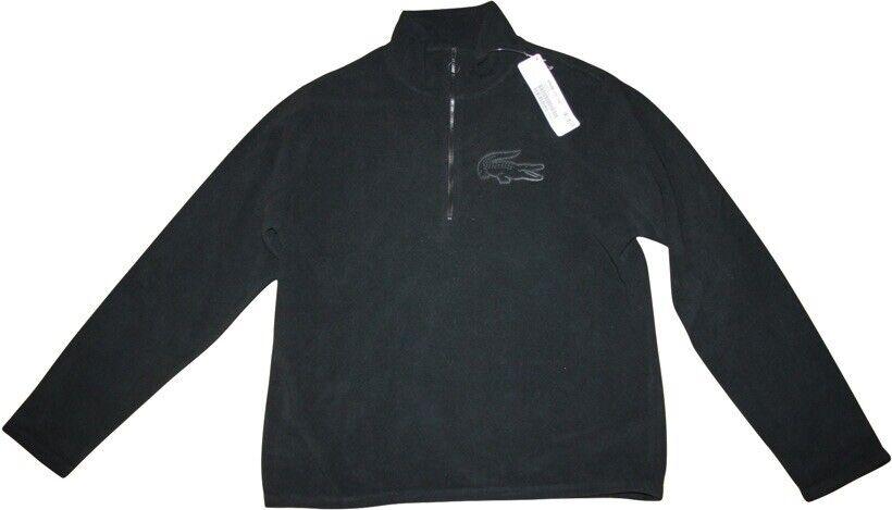 Lacoste Fleeceshirt NEU Gr.42 (fr.44) schwarz Kroko