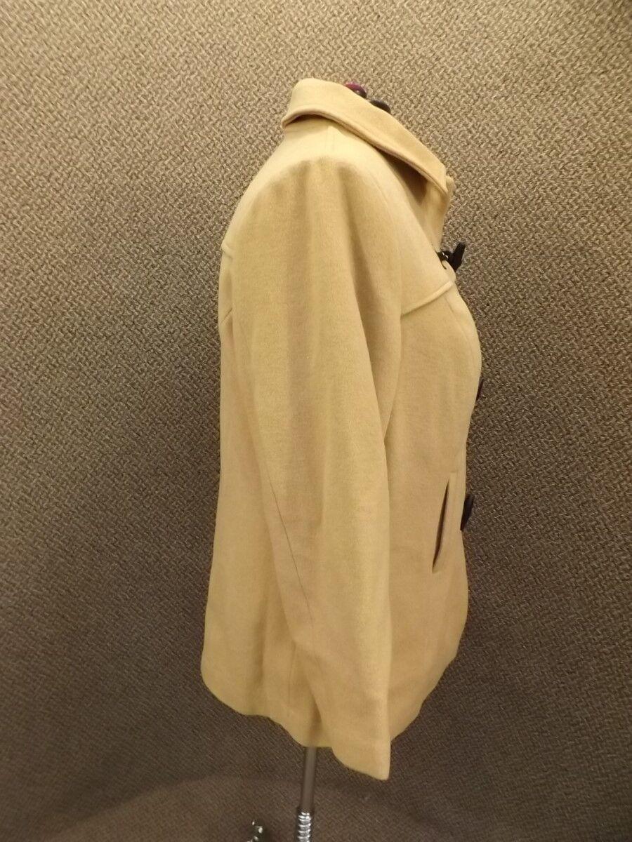 NEW Jessica London Camel Camel Camel Tan Wool Short Tailored Toggle Coat Womens 20 Duffle 3d189d
