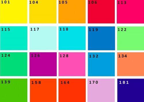 Farb Folien 24,8 x 24,8 cm Farbfolie Color Filter Mix 6x 20 Farbfilter PAR 64