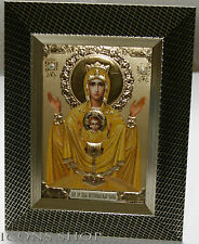 inexhaustible chalice cup gold frame theotokos icon 15 x18 cm, неупиваямая чаша