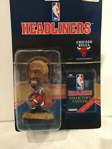 NIB Corinthian Headliners NBA Basketball Dennis Rodman Yellow Hair Action Figure