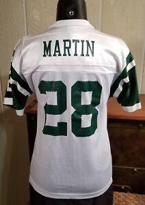 newest 60a85 b2002 NFL New York Jets Curtis Martin #28 Champion White Jersey ...