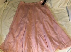 RALPH-LAUREN-Lined-Pink-Cotton-Skirt-Womens-Size-10-NEW-NWT-PINK-SANDS