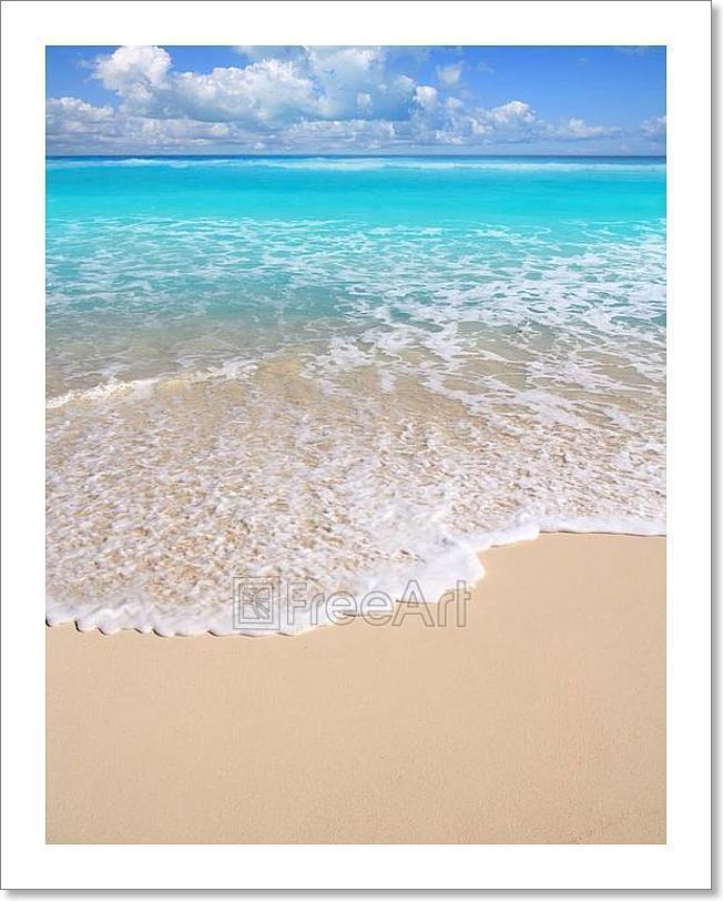 Caribbean Turquoise Beach Perfect Sea Art Print Home Decor Wall Art Poster - D