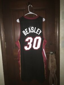 the latest 5e3bd 090fa Details about NWT* Mens Adidas Size 2XL MICHAEL BEASLEY Miami Head NBA  Basketball Jersey ~Sewn