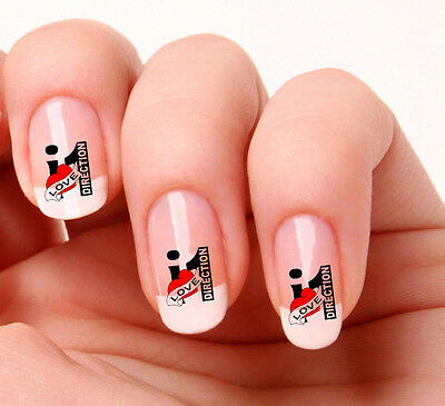 20 Nail Art Decals Transfers Stickers #711 - One Direction I Love One Direction
