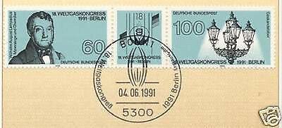 Ordentlich Brd 1991: Weltgaskongreß Nr. 1537+1538 Mit Dem Bonner Ersttagsstempel! 1a! 1906 SchnäPpchenverkauf Zum Jahresende