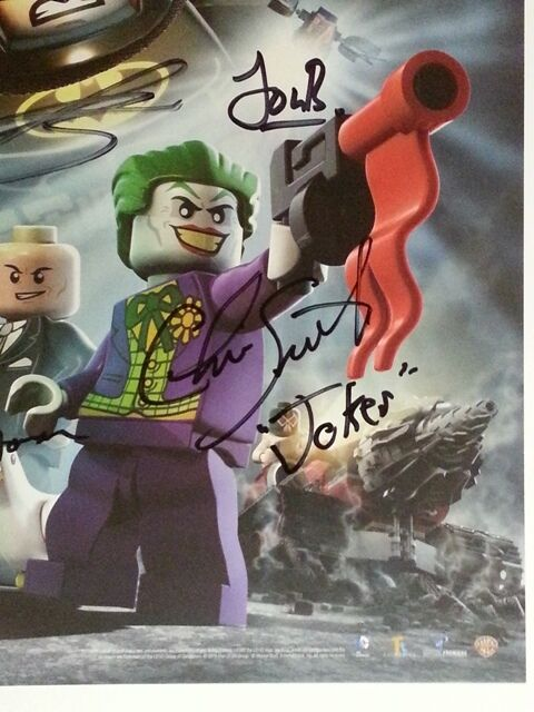 WonderCon 2013 2013 2013 EXCL Batman The Movie LEGO Poster print signed x 6 RARE  + Bonus 3e9b00