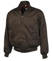 Harrington Jacket Bomber Classic Tartan Lined G9 Ska Punk Skinhead Mod Brown