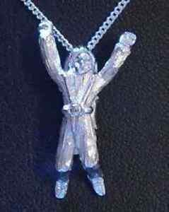 COOL-Sky-Diver-Diving-Charm-Parachuting-Sterling-silver-Jewelry-Pendant-parachut