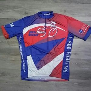 VOMAX-Men-039-s-2006-MS-Bike-Tour-Cycling-Jersey-Size-M