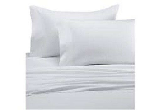 WHITE 100/% EGYPTIAN COTTON BAMBOO BED LINEN SHEET HIGH QUALITY NATURAL