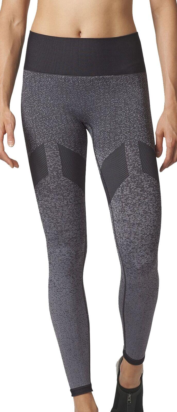 Adidas Seamless Womens Long Running Tights - Grey