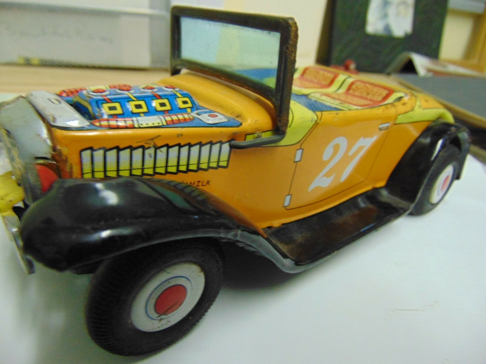 1960s VINTAGE JAPAN Nomura Hot Rod 1930s Styled FRICTION TIN Toy Car
