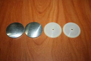 4 Boutons a Recouvrir de Tissu Ø 14 mm Forme Plat Coquille Aluminium Culot Nylon