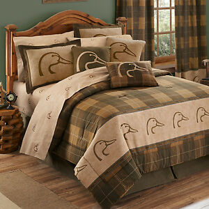 Image Is Loading Ducks Unlimited Complete Bedroom Set With Drapes And
