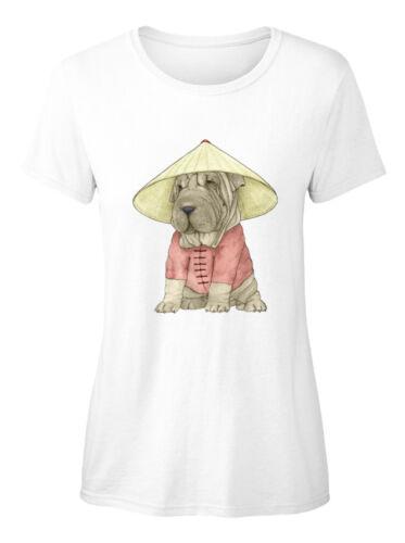 Printed Shar Pei On The Great Wall Standard Women/'s Standard Women/'s T-Shirt