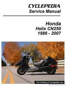 details about honda cn250 helix scooter printed service manual by cyclepedia Yamaha Wiring Diagram