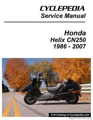 Honda CN250 Helix Scooter Printed Service Manual by Cyclepedia | eBayeBay