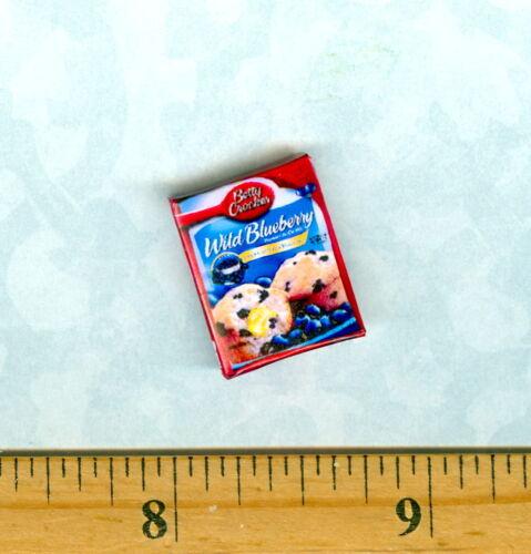 Dollhouse MINIATURE  Size Modern Blueberry Muffin mix Box