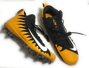 Details about Nike Mens 922813-017 Alpha Menace Football Cleats - Yellow  Black Size 16