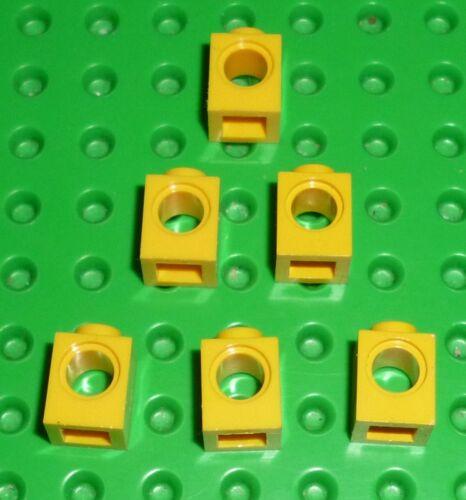 YELLOW 6541 BRICK TK110 TECHNIC LEGO 1 x 1 with Hole x 6