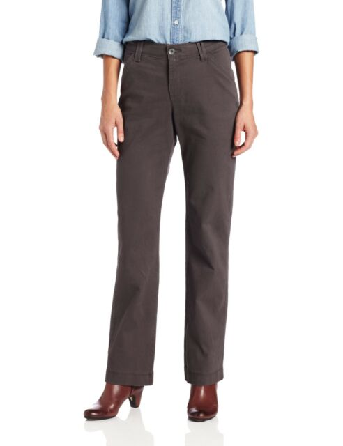 f5c7a97d441 Lee Women s Comfort Fit Carden Slimming Straight Leg Pant Flint 6 ...