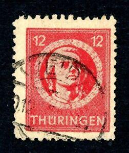 SBZ-Thueringen-MiNr-97-A-X-ba-t-gestempelt-Fotoattest-OZ2278