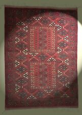Fantastischer Orient-Teppich Afghanistan 220x158 cm rot Afghan rug Tapis Tappeto