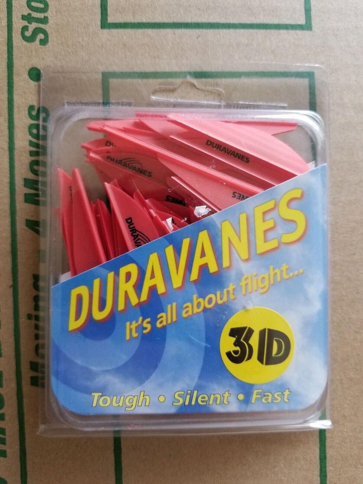 """Duravanes 3D arrow vanes 2.3/"""" 50 each White"""