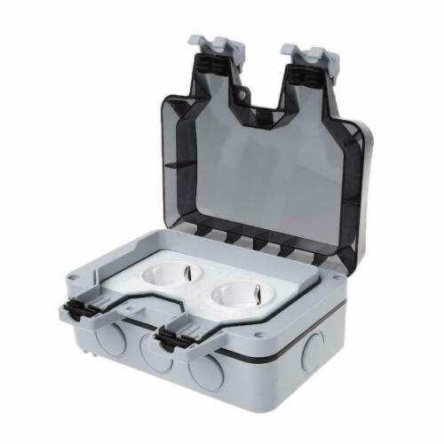 Wandsteckdose Box Für Außenbereich Steckdose IP66 Wasserdicht /& Staubdicht DHL