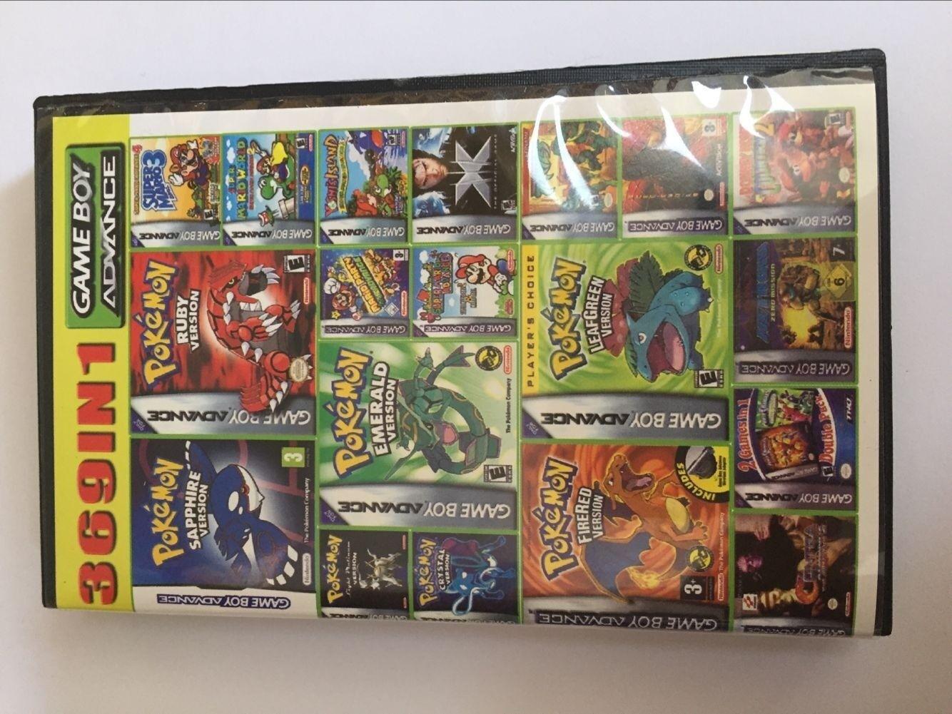 369 in 1 Multicart GBA Game Boy Advance SP Pokemen Marioo DK Collection CA 2