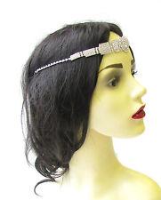 Silver Rhinestone Headpiece 1920s Headband Flapper Great Gatsby Diamante 1629