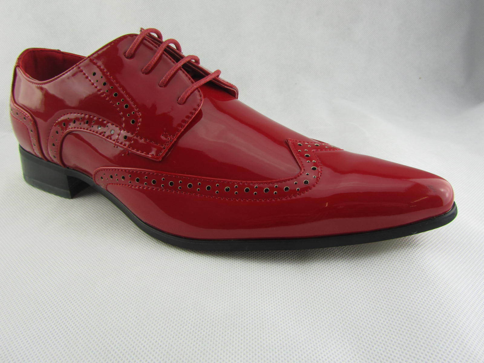 Rossellini Rossellini Rossellini Prato Z2 Hombre Zapatos Lace Up Brogue Rojo Patent Pointed Casual Zapatos 817723