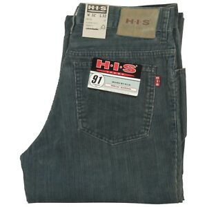 Neu Straight Cordhose Mit Größen Graublau His Jeans Fit Verschiedene Etikett qCw0B
