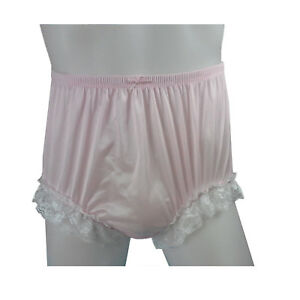 Burlesque Red Satin Cream Lace French Cami Knickers Tap Pant Panties  Size 12-14