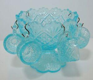 Westmoreland Glass Thumbelina Turquoise Mini Kids Punch Set 7pc Box