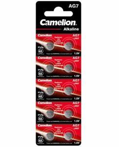 10 Stück Camelion Ag7 Knopfzellen Knopf Zellen Lr57 Sr927 395 195 Mhd: 10.2023 Hochglanzpoliert