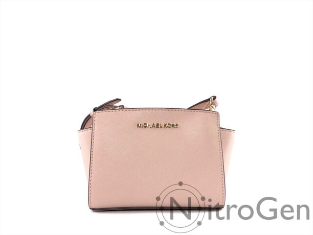 Michael Kors Selma Mini Leather Crossbody Bag Ballet Pink 35h8glmc0lwas