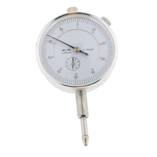 Heavy Duty Dial Test Indicator Gauge Lug Back Metric 0-10mm 0.01mm Accurate