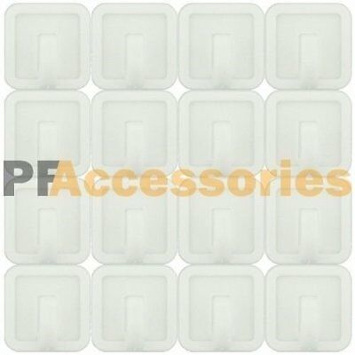 16 Pcs White Self Adhesive Plastic Square Hook Small Wall Mount Hanger Bathroom
