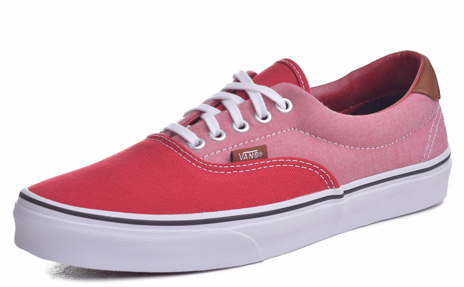 0f9632c4c4 VANS off The Wall Era 59 Canvas   Chambray Chili Red Shoes Mens 10 ...